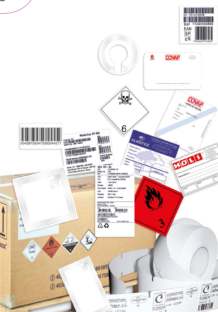Venta de etiquetas adhesivas personalizadas para logística